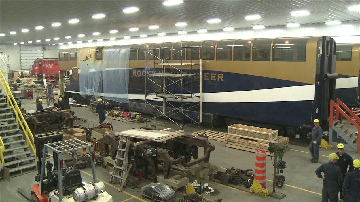 Les travaux de Rail GD sur les wagons de Rocky Mountaineer