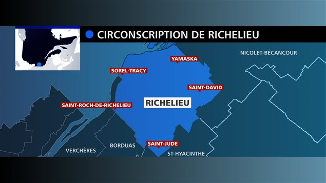 Carte de la circonscription de Richelieu