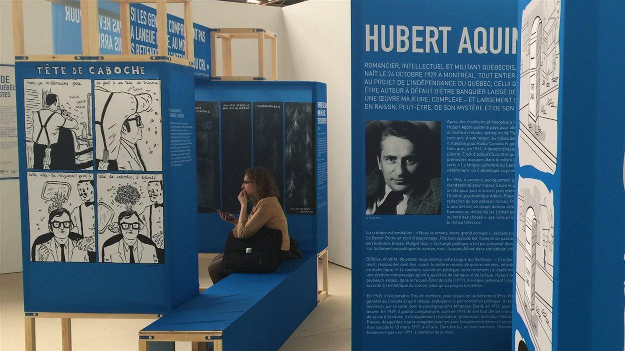 L'univers d'Hubert Aquin vu par Francis Desharnais.