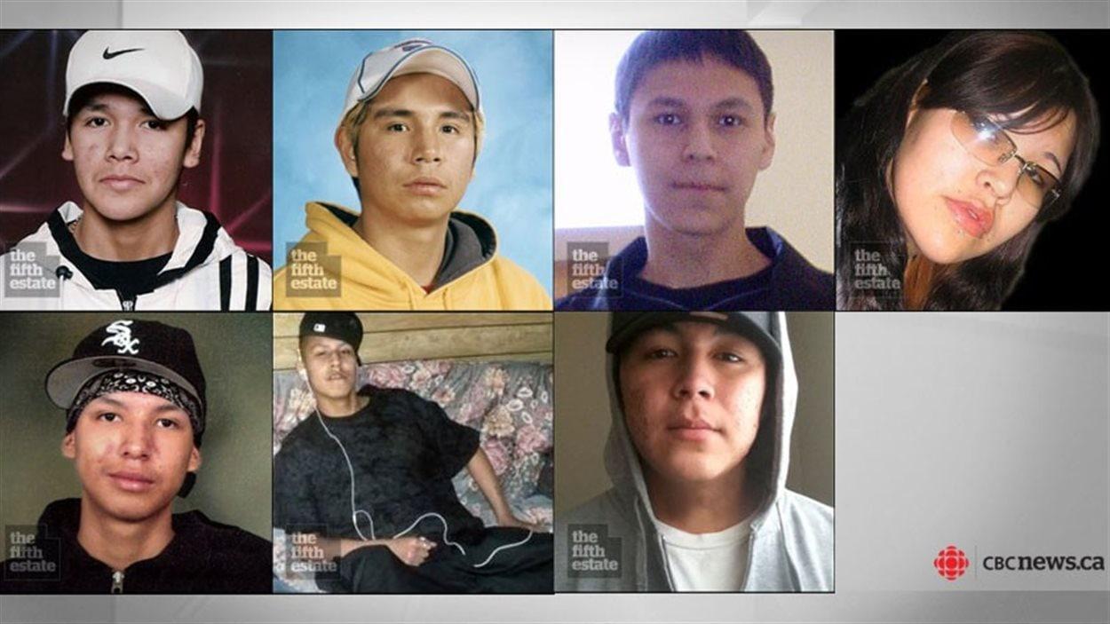Les sept Autochtones morts à Thunder Bay