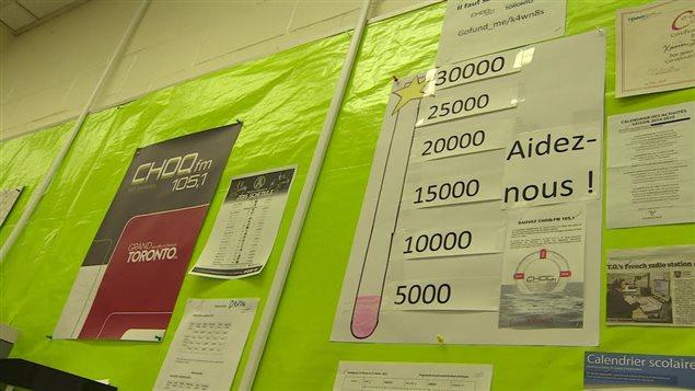 Une campagne de sociofinancement a permis d'amasser 5000 $, bien moins que l'objectif de 30 000 $.