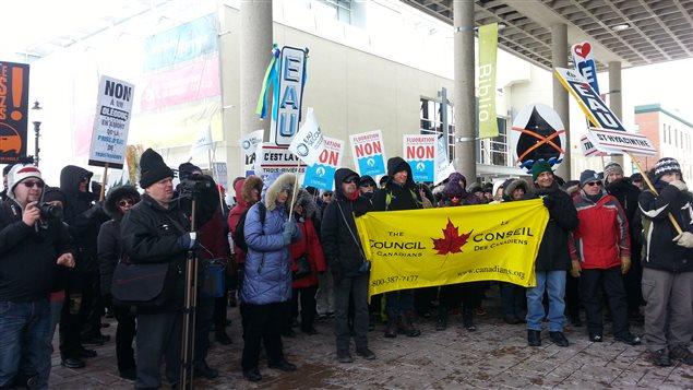 Le rassemblement à Trois-Rivières pour la Journée mondiale de l'eau