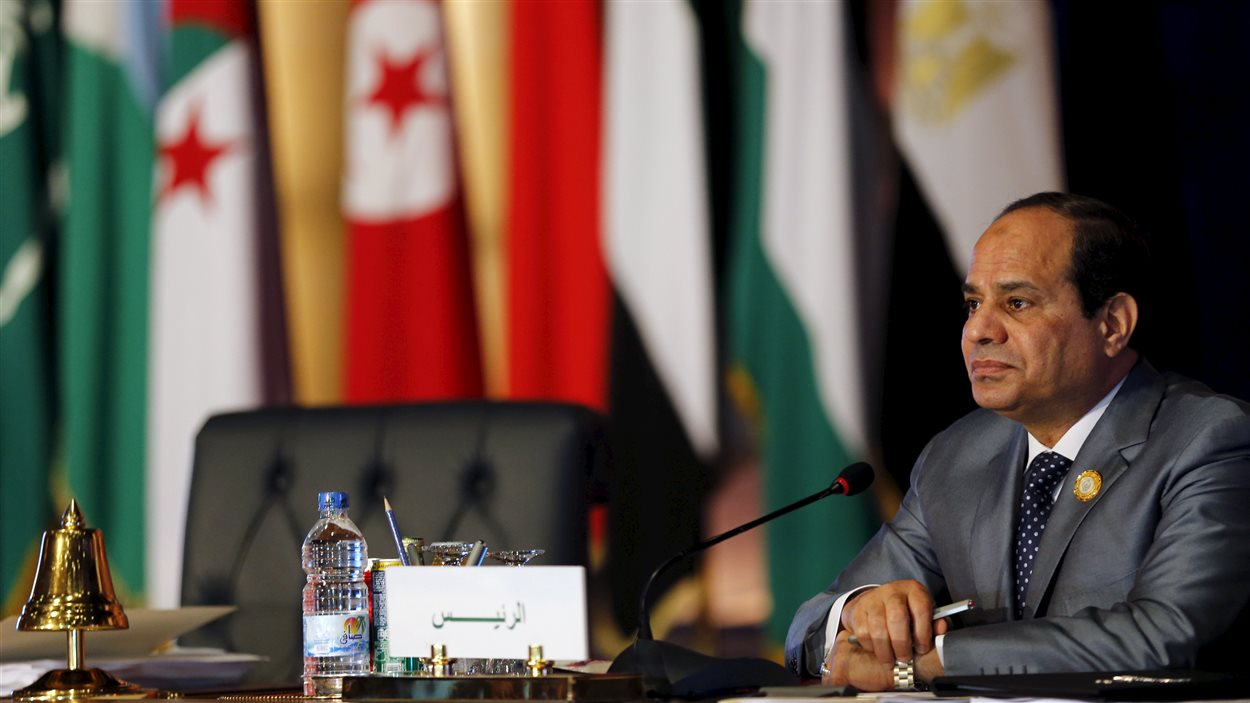 Le président égyptien Abdel Fattah Al-Sissi pendant le sommet de la Ligue arabe.