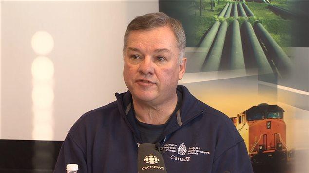 Mike Cunningham, du Bureau de la sécurité des transports du Canada  (BST)