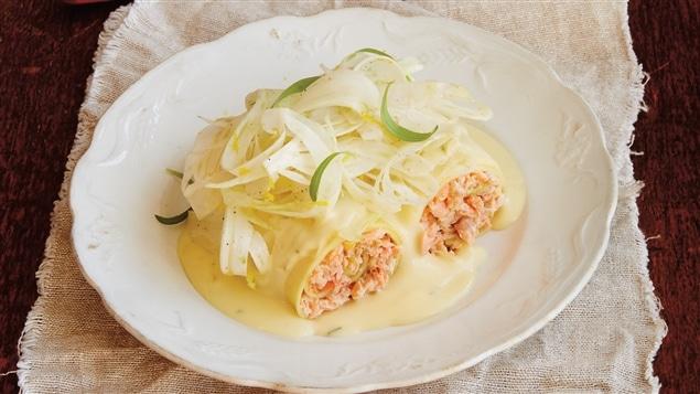 Ricardo - Cannellonis de truite et salade de fenouil - Émission du 3 avril 2015