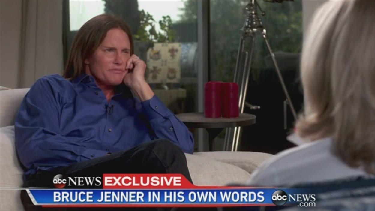 Bruce Jenner en entrevue avec Diane Sawyer.