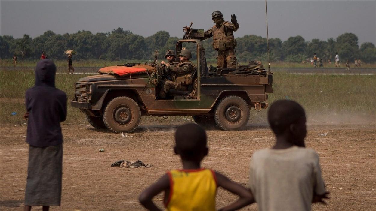 Des soldats français au camp de Mpoko, en Centrafrique, en janvier 2014.