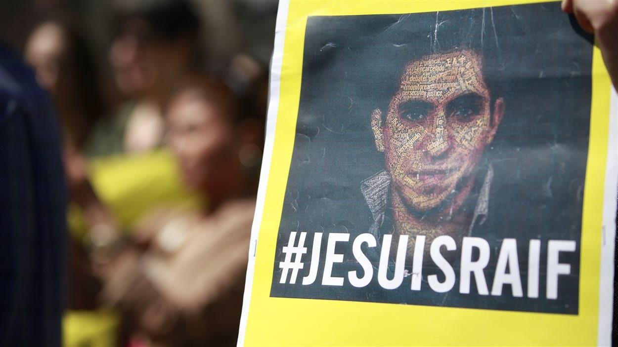 Manifestation en appui à Raif Badawi