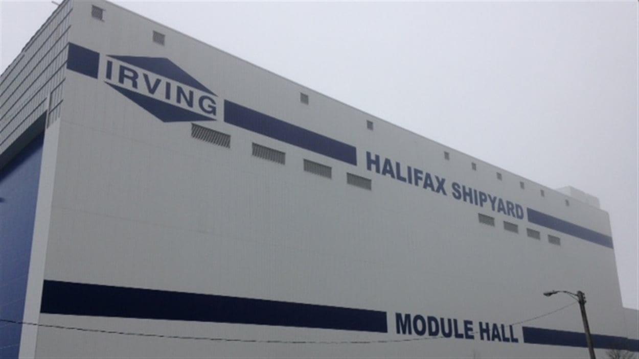 Le chantier naval d'Irving à Halifax