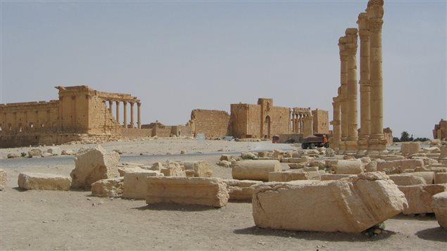 L'extérieur du temple de Bêl, avant sa destruction
