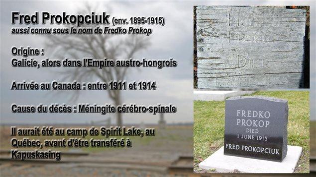 Les informations partielles sur la vie et la mort de Fred Prokopciuk