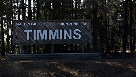 Pancarte Bienvenue èa Timmins