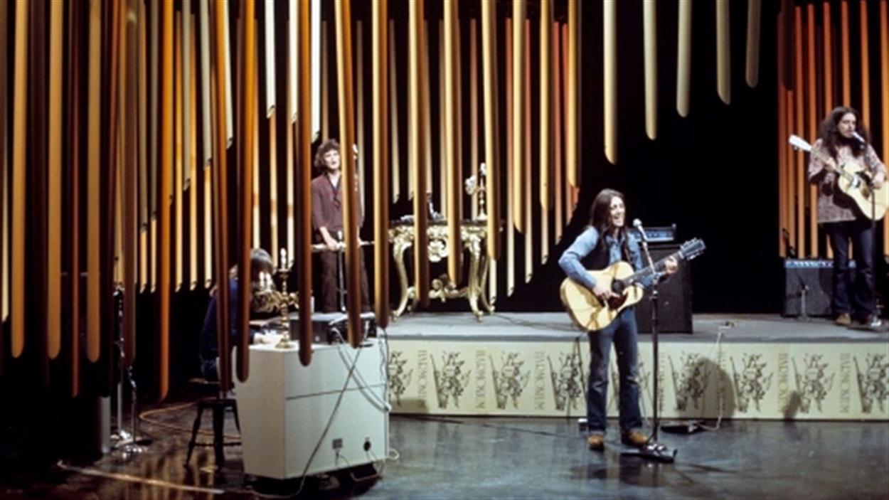 Le groupe Harmonium à la télévision de Radio-Canada en 1975.