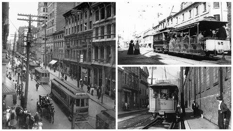 Les premiers tramways électriques ont fait leur apparition à Montréal en 1892.