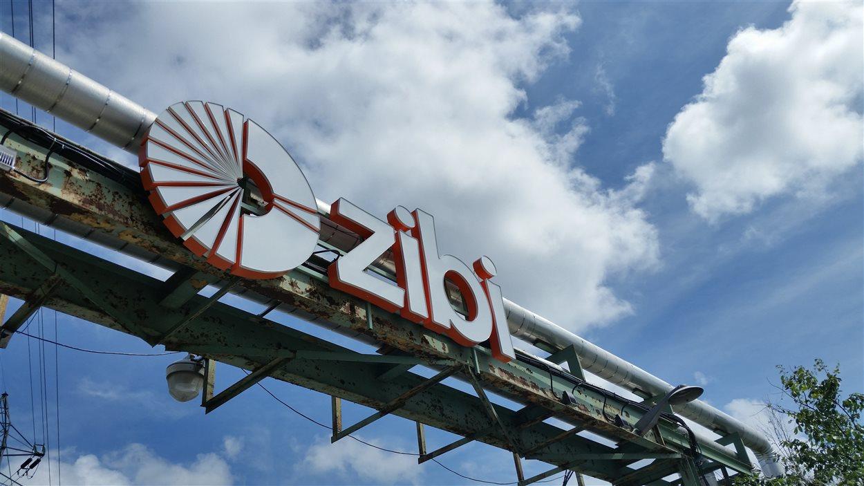 Un logo du projet immobilier et commercial Zibi, mené par Windmill sur les anciens terrains de l'usine Domtar, dans le secteur de Hull.