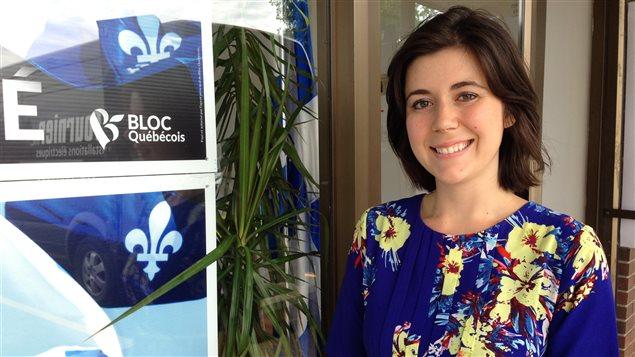 Catherine Fournier devant son local de campagne électorale, à Sainte-Julie