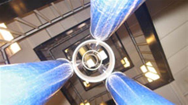 Le premier prototype d'ascenseur spatial conçu par Brendan Quine fait sept mètres.