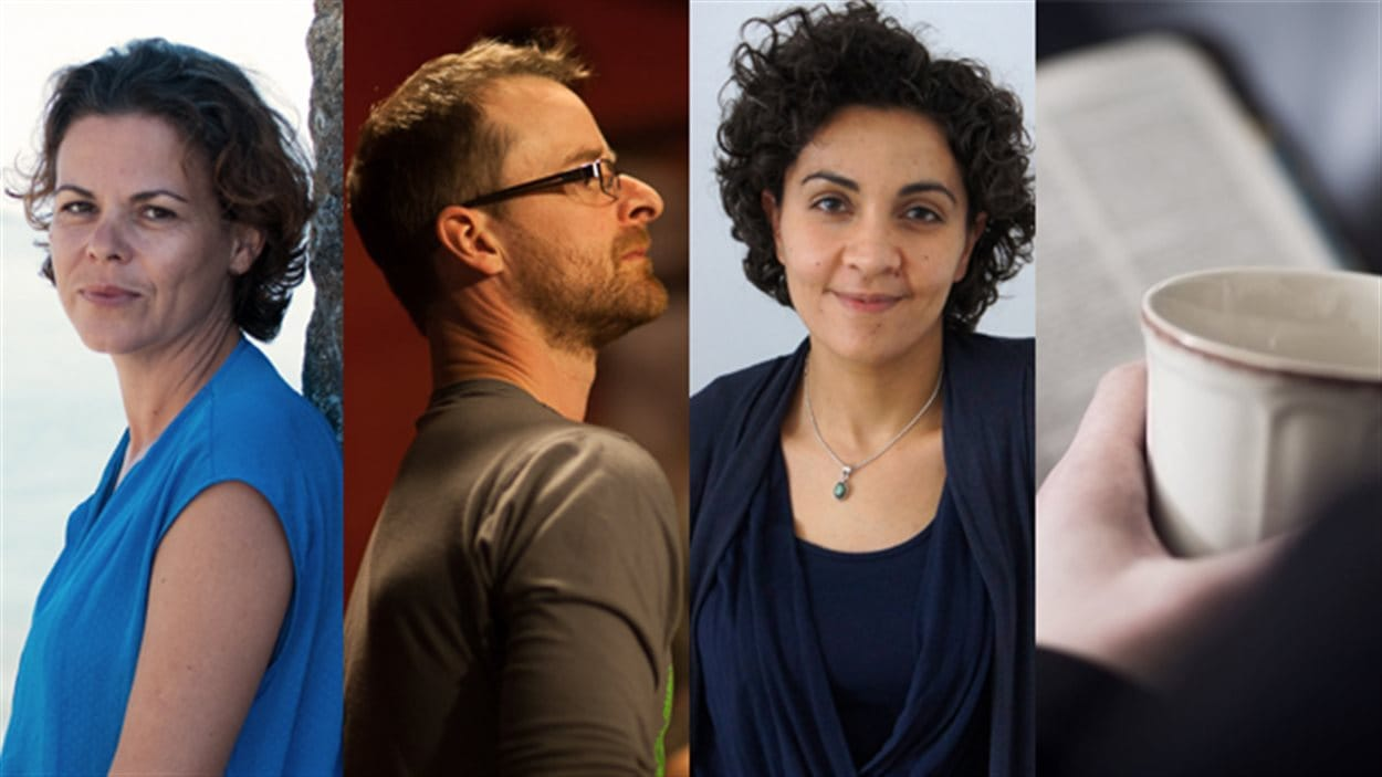 Laure Morali, Philippe Garon, Yara El Ghadban et Anne Molgat ont effectué la présélection des textes pour le Prix du récit Radio-Canada 2015.
