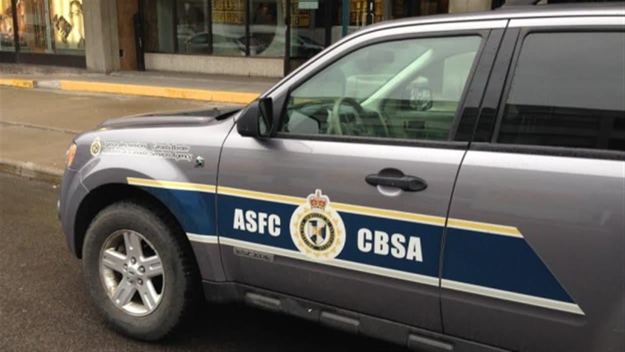 Véhicule de patrouille de l'Agence des services frontaliers du Canada