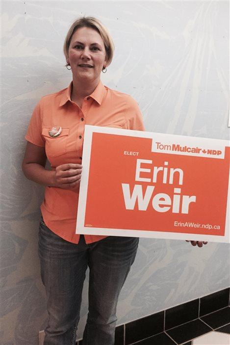 Erin Weir, candidate du NPD