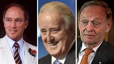 Pierre Elliott Trudeau, Brian Mulroney et Jean Chrétien