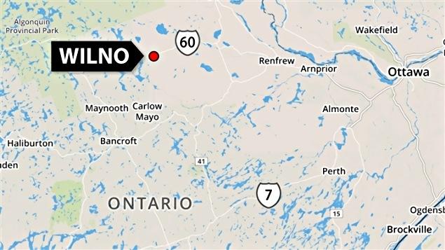 Wilno est située à environ 175 kilomètres à l'ouest d'Ottawa.