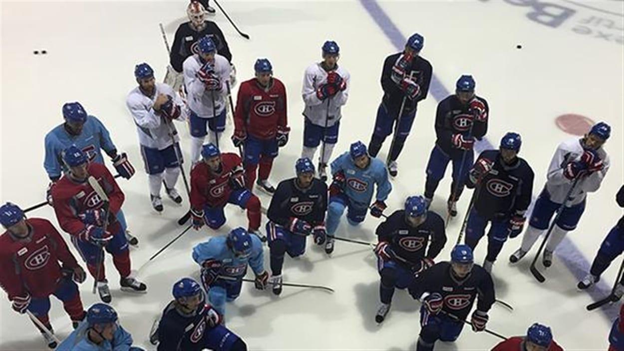 Entraînement des Canadiens de Montréal mercredi