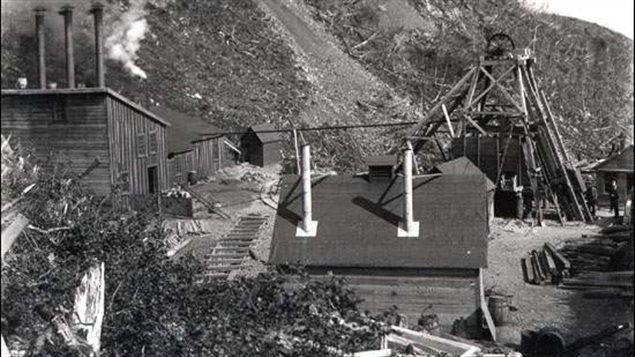 La mine de Tilt Cove en 1900