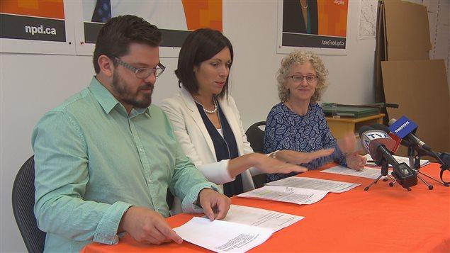 Dany Morin, Karine Trudel et Gisèle Dallaire