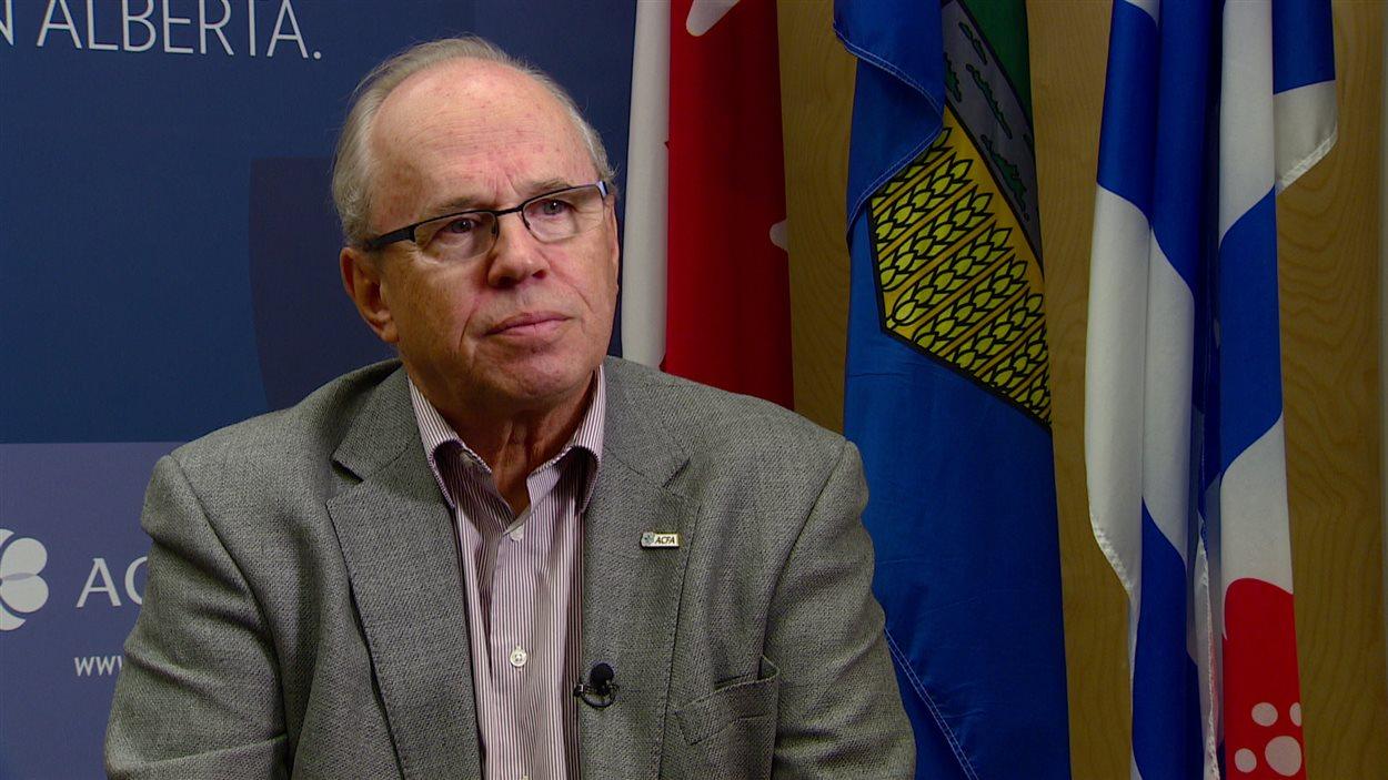 Le président de l'Association canadienne-française de l'Alberta (ACFA), Jean Johnson