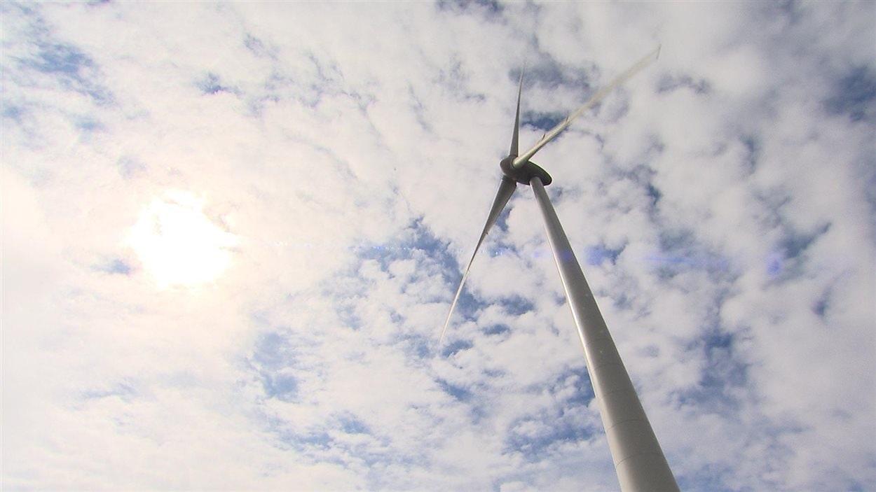 Éolienne en Gaspésie