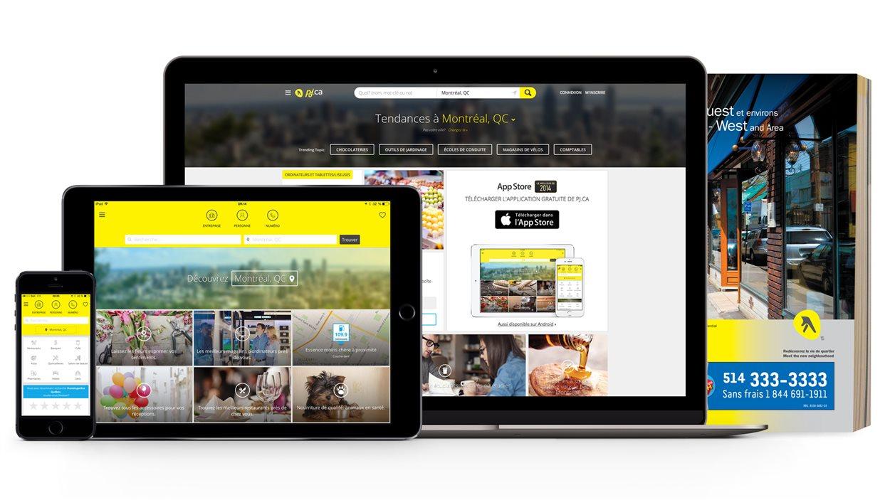 Les Pages jaunes sont désormais disponibles sur plusieurs plateformes.