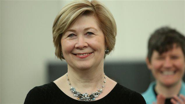 Anne McGrath, la directrice nationale du NPD, après sa nomination à ce poste, à Ottawa, le 6 avril 2014