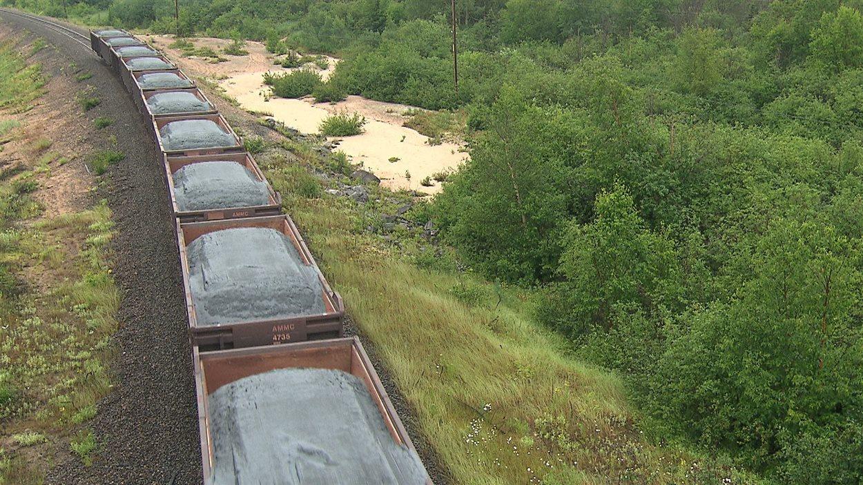 Le transport du minerai d'ArcelorMittal à Port-Cartier