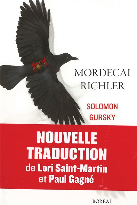 La couverture de «Solomon Gursky» de Mordecai Richler (nouvelle traduction de Lori Saint-Martin et Paul Gagné)