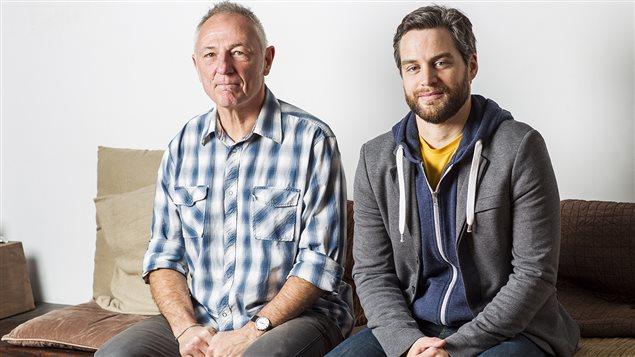 L'auteur André Marois (gauche) et l'illustrateur Patrick Doyon