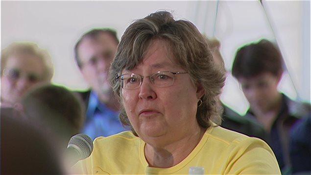 Une participante à la Table ronde des francophones et des Métis de l'Ouest canadien, à Willow Bunch, en 2008