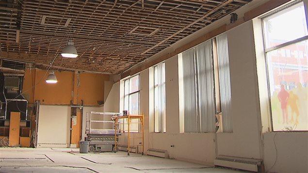 L'intérieur du futur Bistro-Brasserie Les Soeurs Grises en rénovation