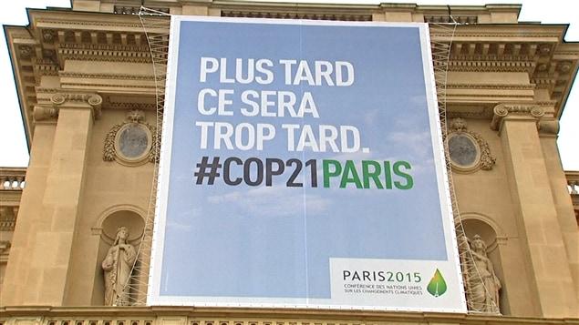 Affiche de la conférence de Paris sur le climat