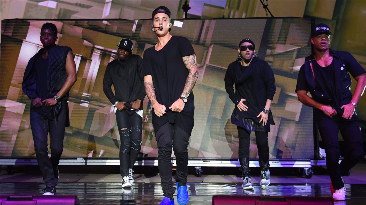 Justin Bieber, lors du Billboard Hot 100 Music Festival à New York en août 2015