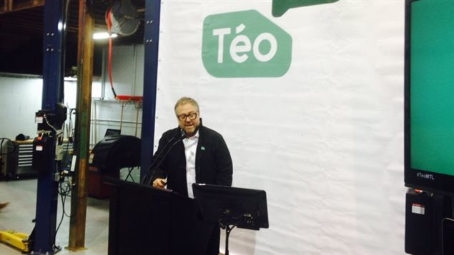 Alexandre Taillefer annonce le lancement de Taxi Téo.