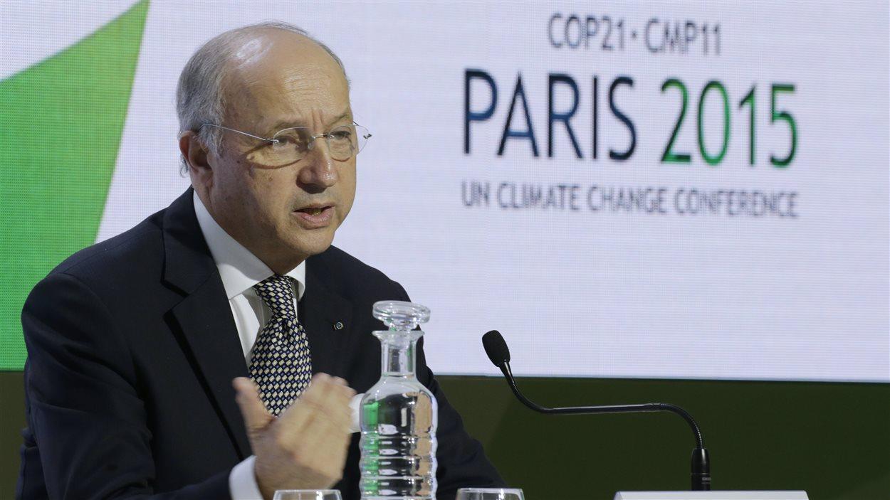 Le président de la conférence sur le climat de Paris, Laurent Fabius