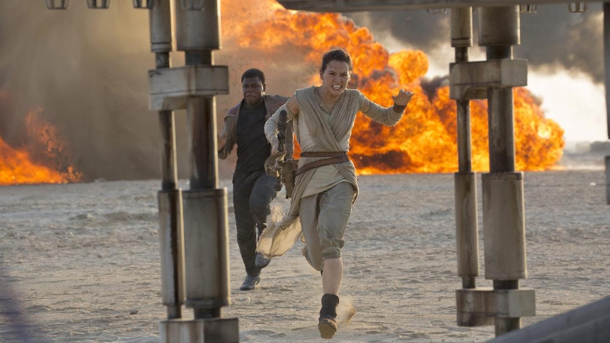Une scène de « Star Wars : le réveil de la force »