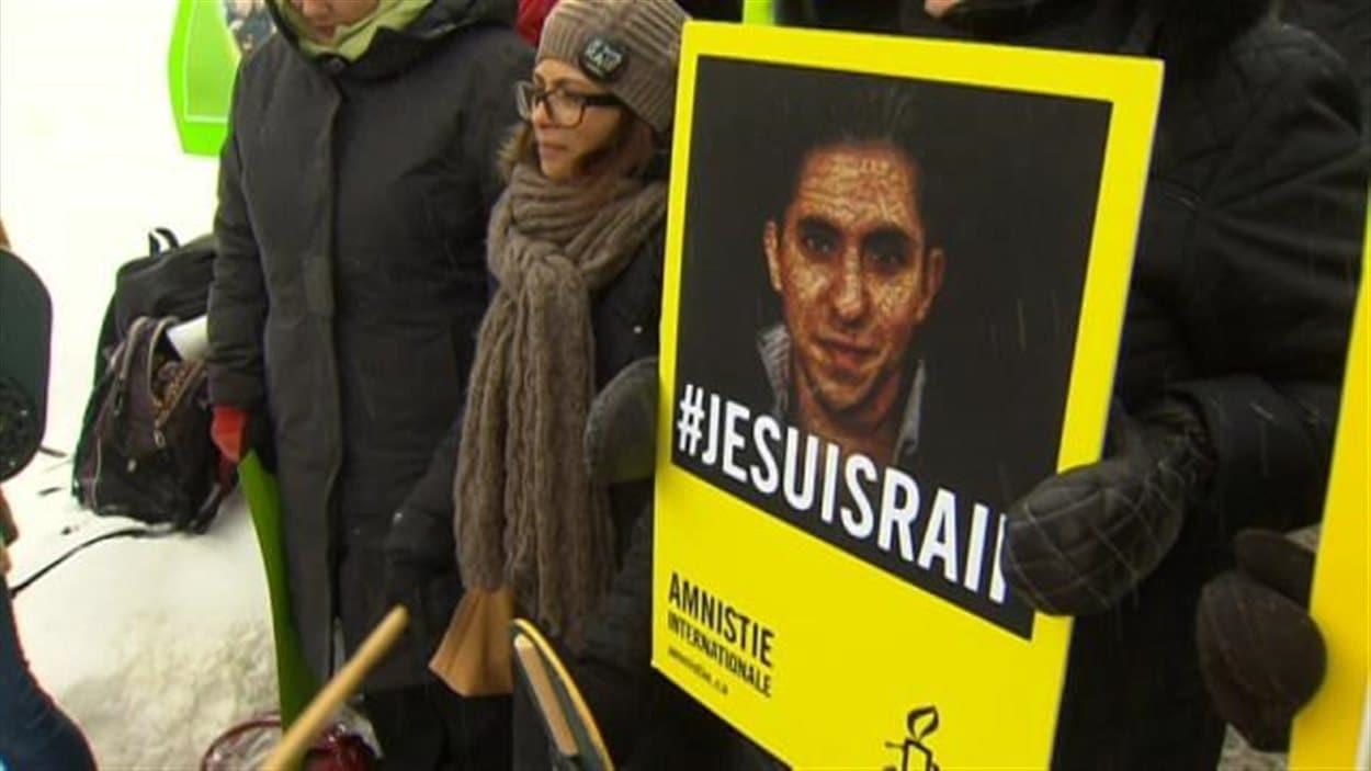 Manifestation de soutien au blogeur saoudien Raif Badawi
