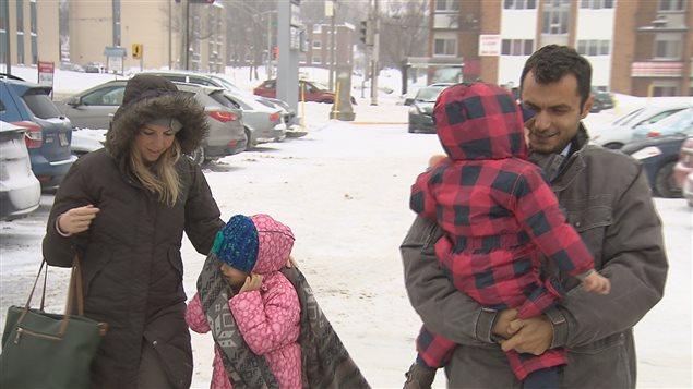 La famille Sabeh a connu sa première tempête de neige