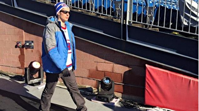 Carey Price avec l'équipe à Boston