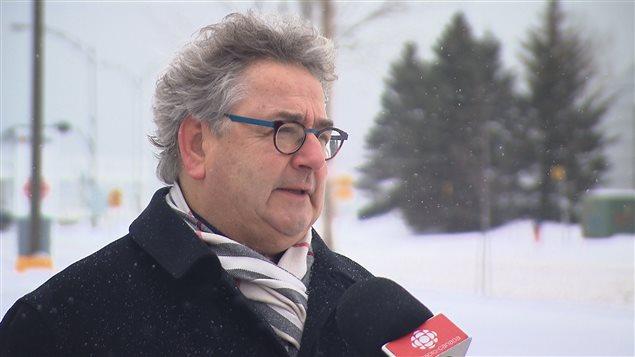 Le maire de Rimouski, Éric Forest