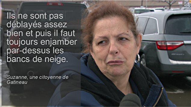 Une citoyenne à propos du déneigement à Gatineau.