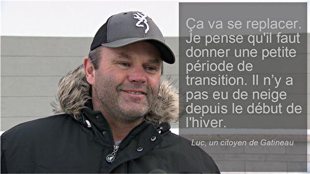 Un citoyen de Gatineau à propos du déneigement.