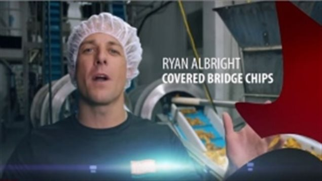 Ryan Albright, de la compagnie de croustilles Covered Bridge
